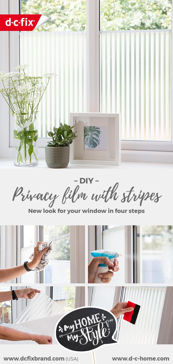 dcfix window glass window film DIY deco living room privacy stripes