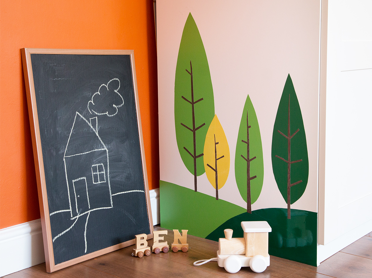 dcfix Möbel Klebefolie Dekofolie DIY Deko Kinderzimmer Bäume