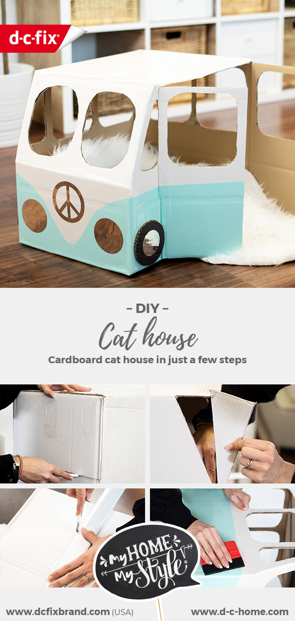 dcfix adhesive foil decorative foil DIY deco cat house