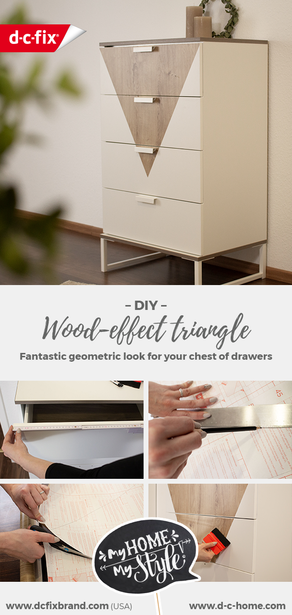 dcfix furniture adhesive film decorative film DIY decorative chest of drawers wood look