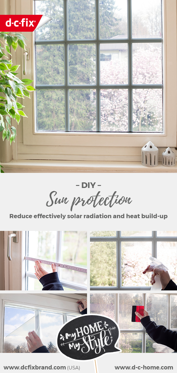A window covered with d-c-fix® static sun protective film to effectively reduce solar radiation and heat build-up.