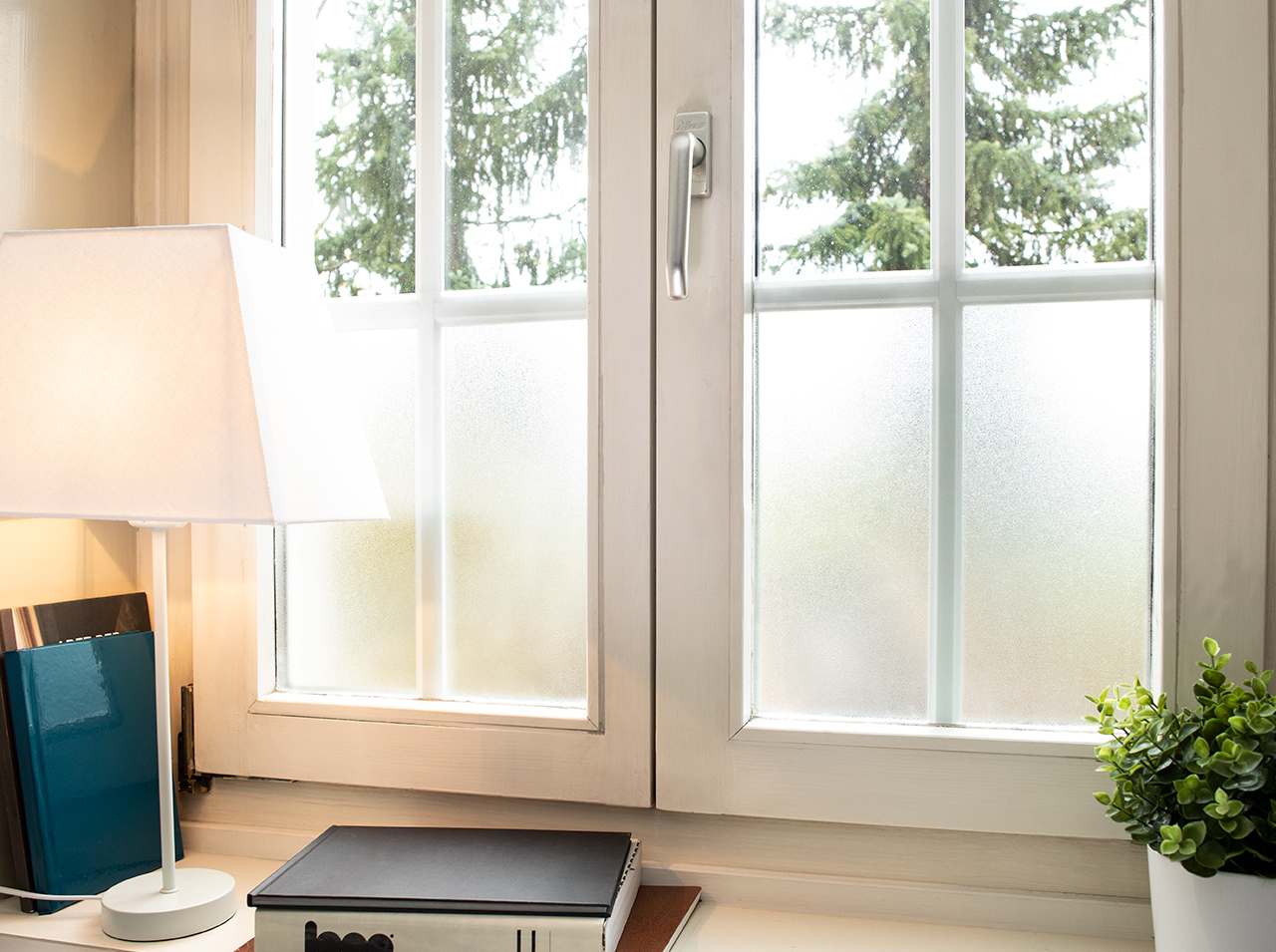 Milky static window film from d-c-fix® for decorative privacy and more privacy at windows